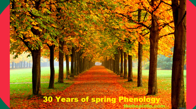 141: Bee Management Introduction - Thirty Years of Spring – Phenology.